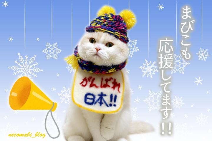 オリンピック応援&手編みニット帽&マフラー